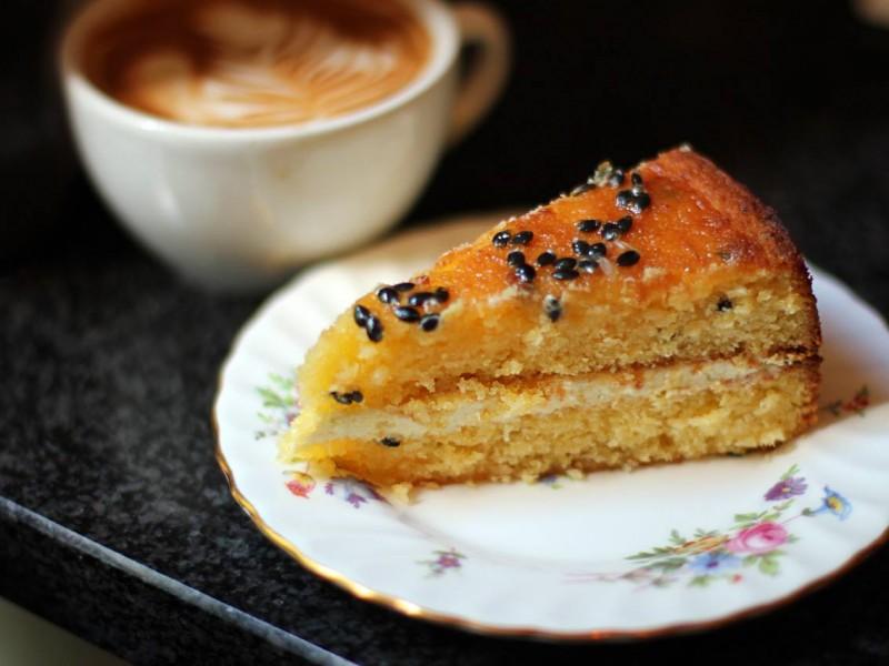 Passionfruit & Coconut Cake (Gluten Free)