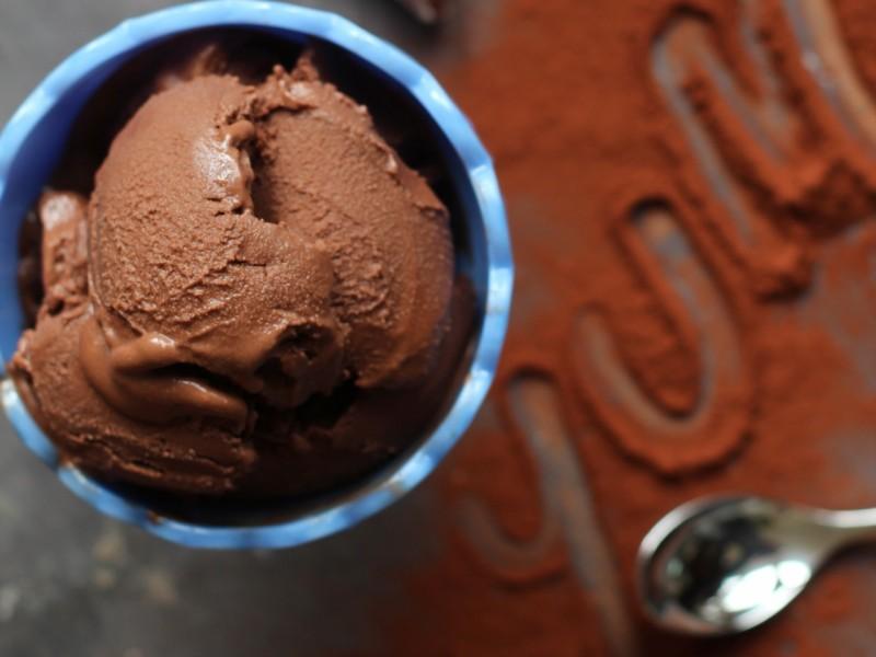 Aquafaba Chocolate Ice Cream