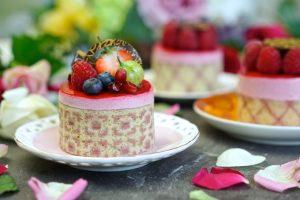 Raspberry Imprime Mousse Entremet (Vegan, Egg Free, Dairy Free, Gelatine Free)