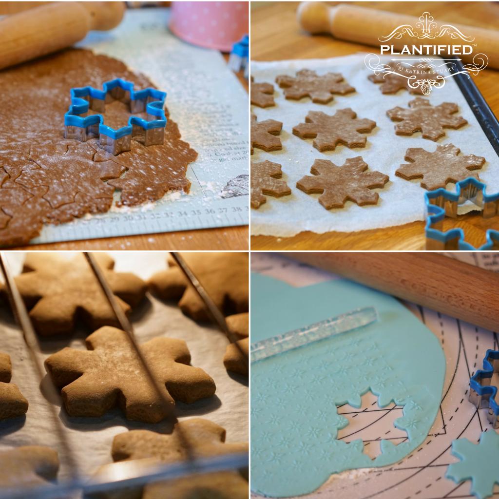 Plantified Aquafaba Gingerbread Snowflakes (Vegan, Egg free, Dairy Free)