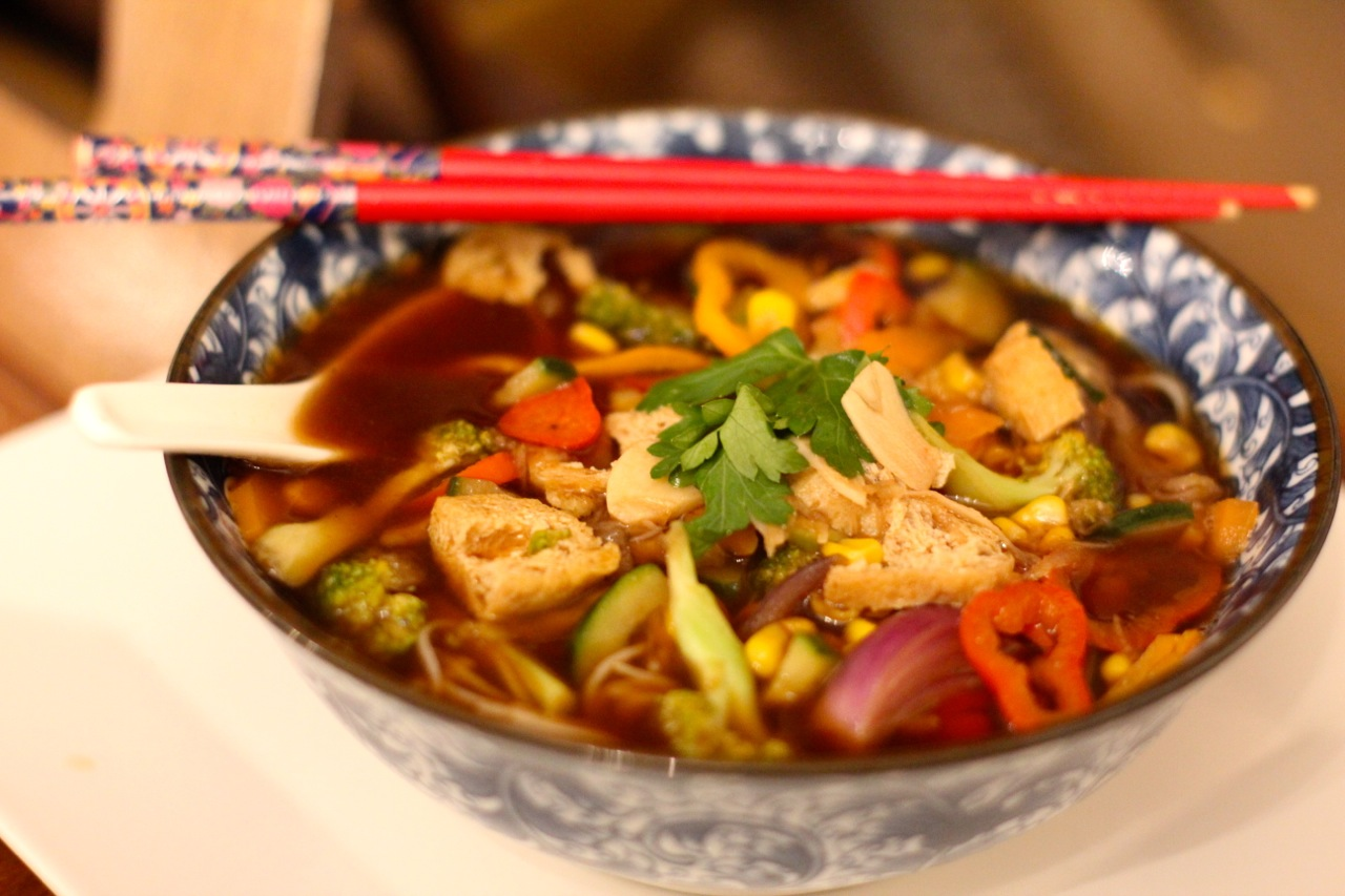 Hoisin  Stir fry Noodle Soup