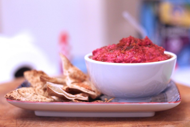 Middle Eastern Beetroot Butter Bean Dip
